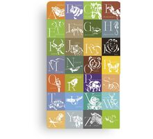 ABC-Book French Animal Canvas Print