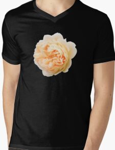 Yellow rose closeup isolated on black background Mens V-Neck T-Shirt