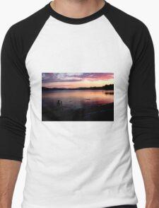 Sunset Silhouette Men's Baseball ¾ T-Shirt