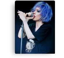 Alice Glass Screen Lines Canvas Print