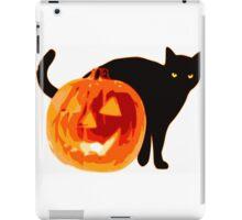 Cat jack o lantern iPad Case/Skin