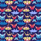 Pattern multicolored butterflies by Tanor