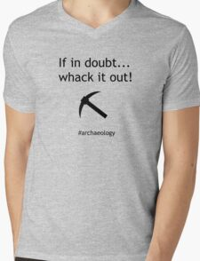 If In Doubt... Whack It Out! Mens V-Neck T-Shirt