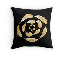Golden San Francisco Leaves Throw Pillow