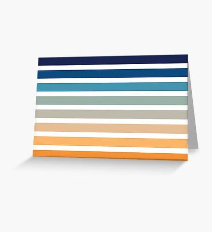 Beach- Sand, Ocean, Sunset sky Color Theme Greeting Card