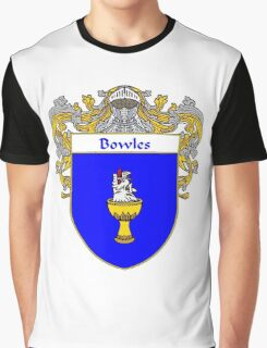 Bowles Coat of Arms/ Bowles Family Crest Graphic T-Shirt