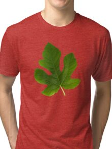 The Leaf Of Fig Tree triptych Tri-blend T-Shirt