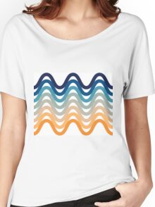 Beach- Sand, Ocean, Sky Color Theme Women's Relaxed Fit T-Shirt