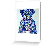 blue bear Greeting Card