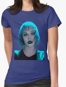 Alice Glass Blue Hair Womens Fitted T-Shirt
