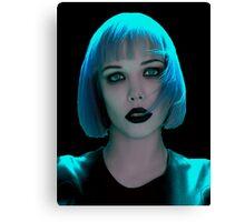 Alice Glass Blue Hair Canvas Print