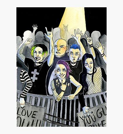 Misfits at a Concert Photographic Print