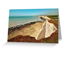 Seven Sisters from near Birling Gap Greeting Card
