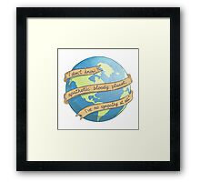 APATHETIC BLOODY PLANET Framed Print