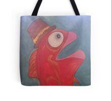 Fish with a hat on. Tote Bag