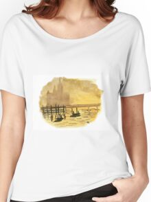 Antique Sunset - Watercolor Painting Women's Relaxed Fit T-Shirt