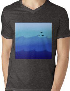 Ocean Gradient Mens V-Neck T-Shirt