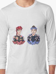 Tyler and Josh - flowers Long Sleeve T-Shirt
