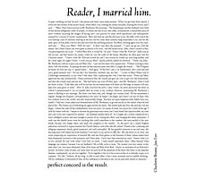 Reader, I married him Photographic Print