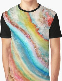 AGATE Inspired Watercolor Abstract 01 Graphic T-Shirt