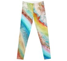 AGATE Inspired Watercolor Abstract 01 Leggings