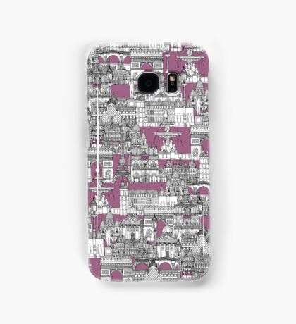Paris toile raspberry Samsung Galaxy Case/Skin