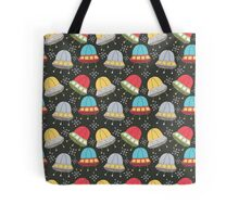 SpaceShip in the Sky Tote Bag