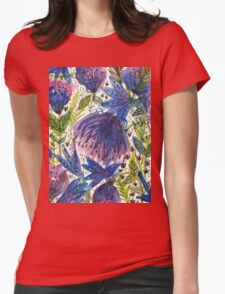 Wild Flowers  Womens Fitted T-Shirt