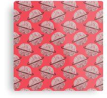 Red Planet Hand Drawn Pattern Metal Print