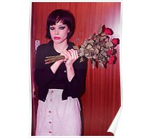 Alice Glass Flowers Poster