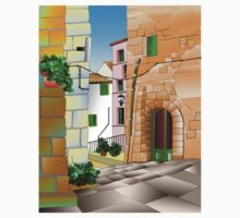 Pitigliano an Italian fortifide hill town One Piece - Long Sleeve