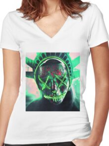 The Purge: Election Year Decal Women's Fitted V-Neck T-Shirt