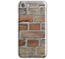 vintage red brick wall texture iPhone Case/Skin