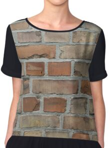 vintage red brick wall texture Chiffon Top