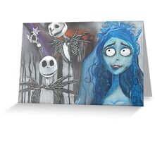 Tim Burton Characters Greeting Card