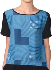 To Block The Color Blocks Chiffon Top