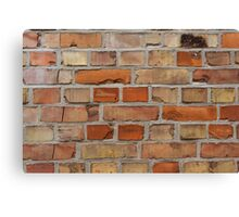 Red wall - brick wall background Canvas Print