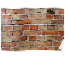 Red wall - brick wall background Poster