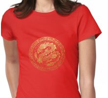 dragon circle Womens Fitted T-Shirt