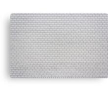 white pattern - brick wall texture  Canvas Print