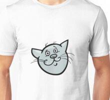 Cute surprised cat head art Unisex T-Shirt