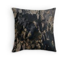 Abstract stone pattern - stone texture design - gold, black Throw Pillow