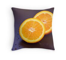 Sliced orange Throw Pillow