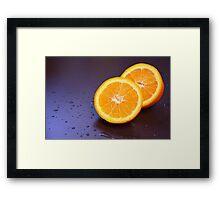 Sliced orange Framed Print