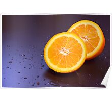Sliced orange Poster