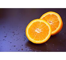 Sliced orange Photographic Print