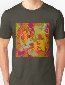 Autumn forest. Seamless camouflage vector pattern. Unisex T-Shirt