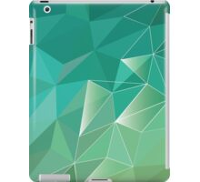 Abstract polygon pattern ,blue  / green Low Poly design iPad Case/Skin
