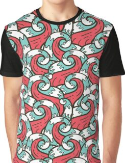 Crazy tangle doodle sea waves pattern Graphic T-Shirt