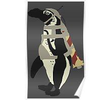 Rocket Penguin Poster
